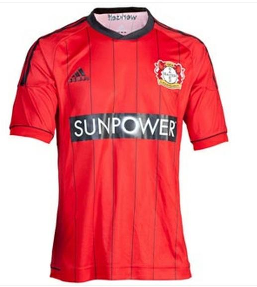 / uniforme / camiseta Bayer Leverkusen Adidas Roja 2012/2013
