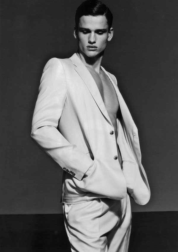 Model Simon Nessman for Numéro Homme China