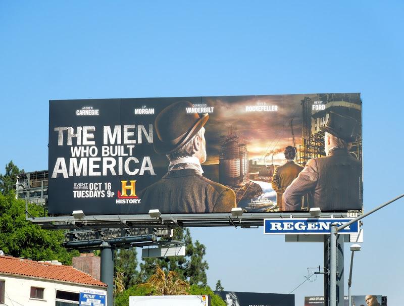Men Who Built America History billboard