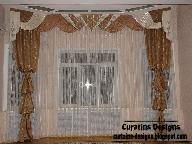 Contemporary American Curtain Design, Bedroom Curtain Design Brown