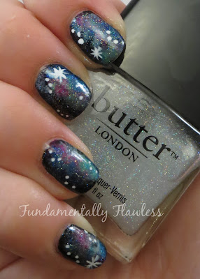 Galaxy nails with Butter London Frilly Knickers