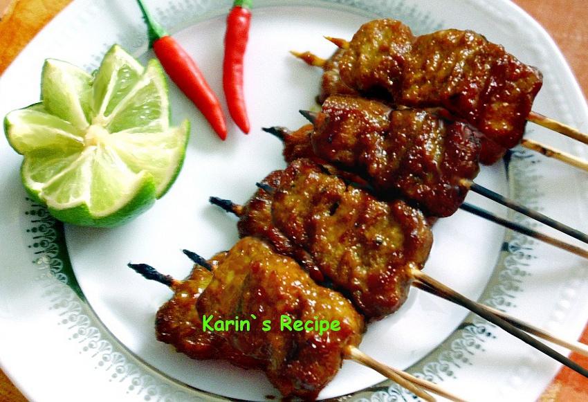 karin s recipe sate babi sapi pork beef satay