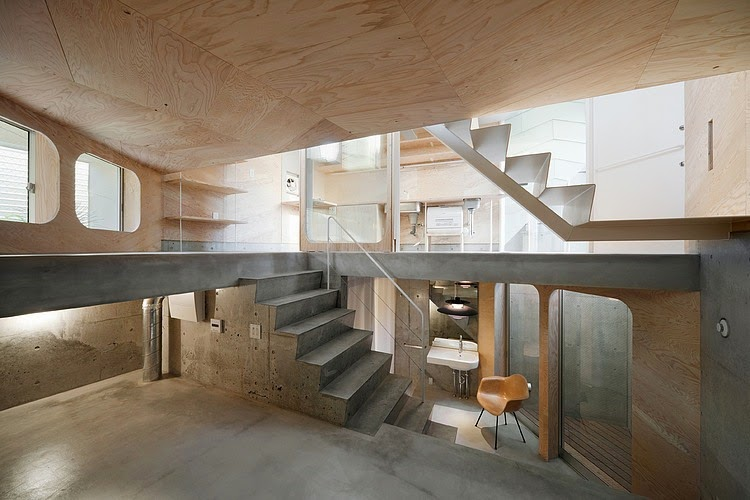 As If To Step On Another World, The Fantastic Design Of Concrete And Wooden  Elements Artistically ...