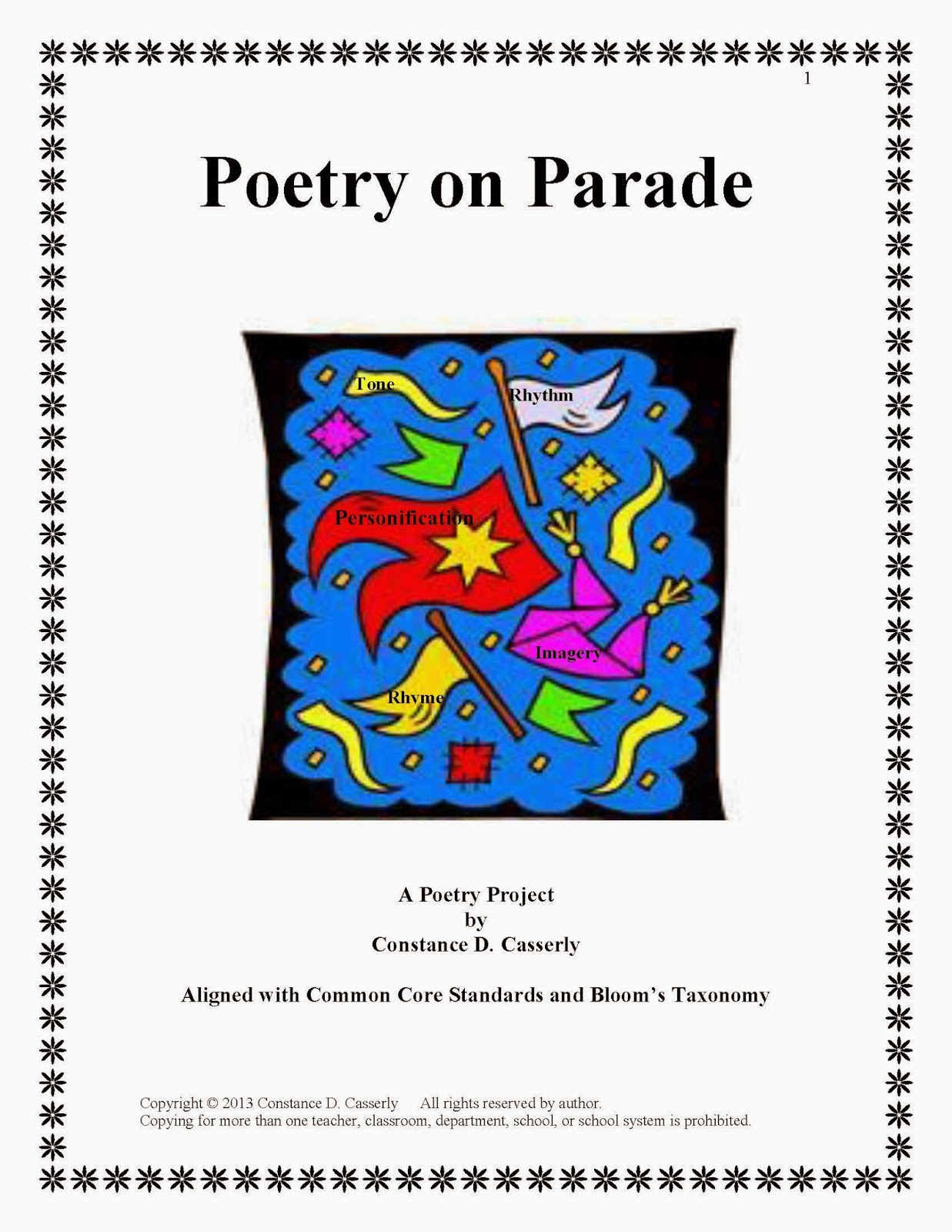 Activity: Poetry on Parade cover