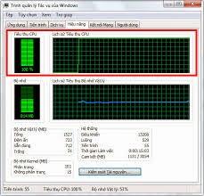Khắc phục máy tính hiện tiêu thụ CPU 100%