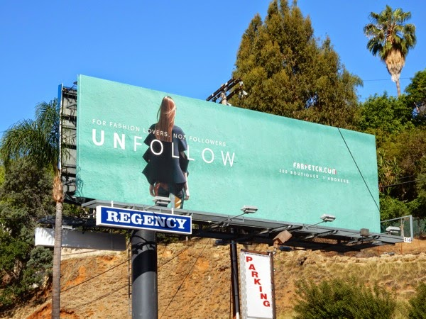 Farfetch Unfollow billboard