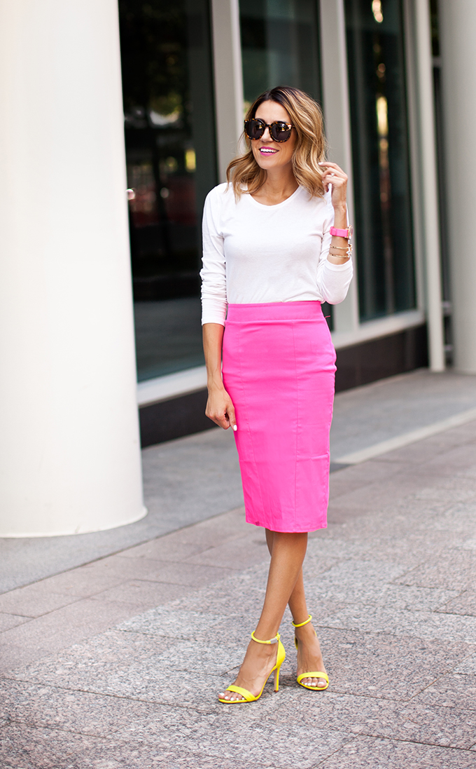 Hello Fashion: Neon Pencil Skirt