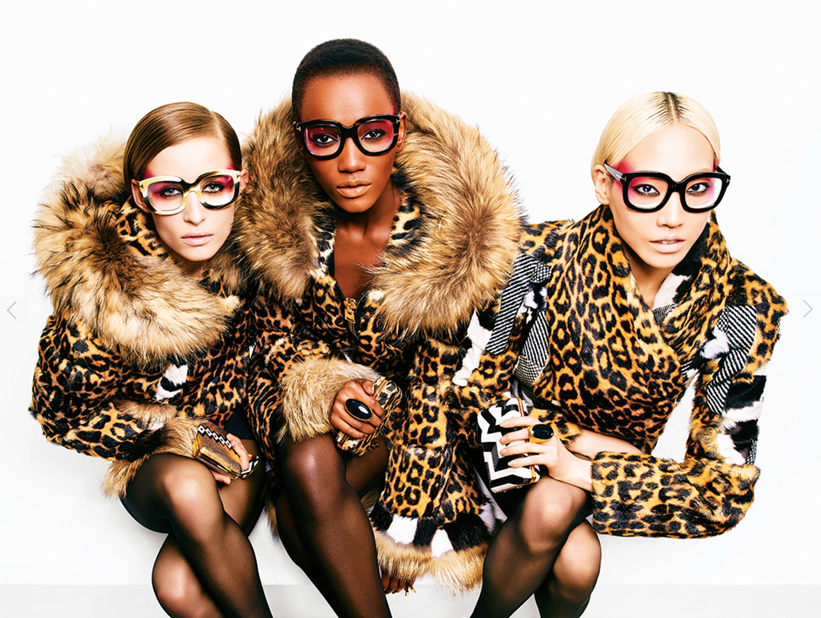 Tom Ford eyewear, leopard coats