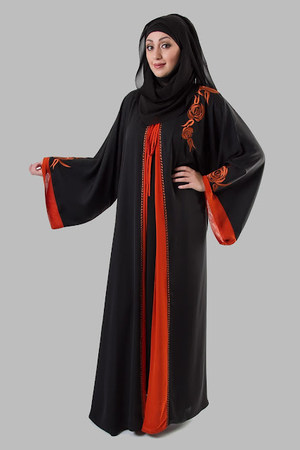 Embroidered Abaya Designs 2013 | Islamic Abaya Dress Fashion 2013-14