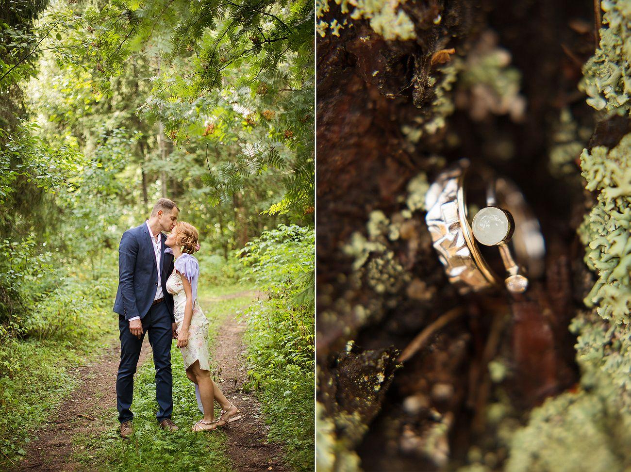 прогулка жениха и невесты, кольца