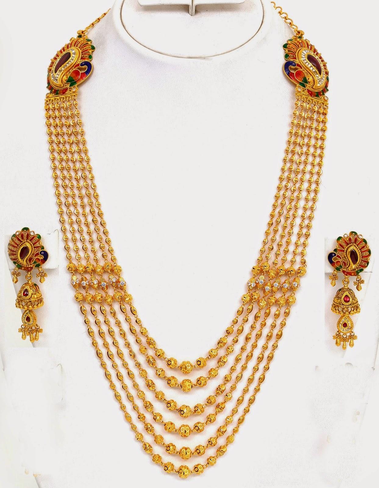 Jewellery Designs : Designer Chandra Haram with Earring Set