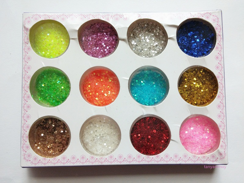 Glitter Gradient Nails Nail Art Design Manicure NOTD BPS Glitter Powder Set Essence Effect Nail Polish