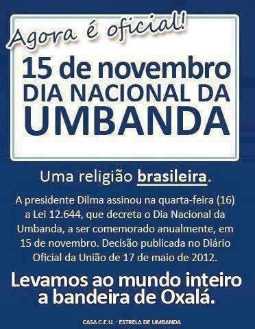 UMBANDA É UMA RELIGIÃO BRASILEIRA