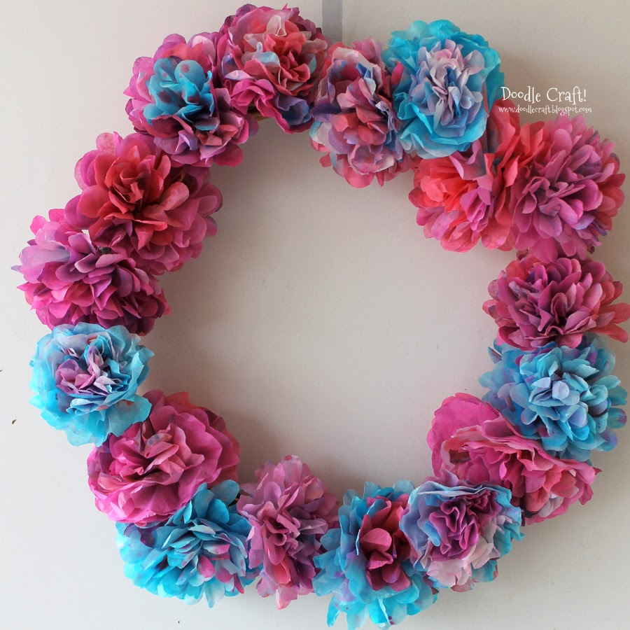 Coffee+filter+tutorial+diy+how+to+and+wreath+for+spring+fornt+door+curb+appeal+cheap+dollar+store+(4)