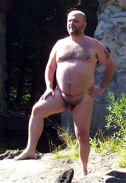 Naturebear04 Sexy Naked Chubby Bear Photos in Nature