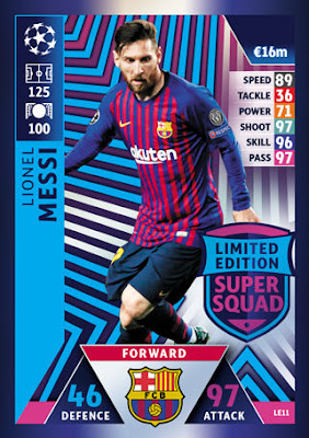 Road to Madrid Match Attax 18//19 Champions League Extra 19. Antoine Griezmann Limited Edition Trading-Karte