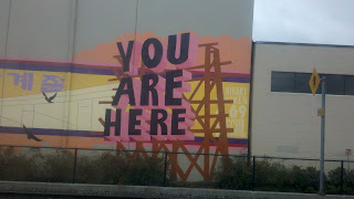 You are here mural in Seattle's Sodo Busway