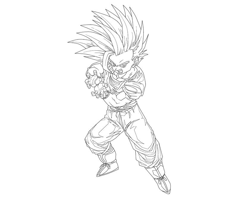 Father Son Kamehameha Gohan Coloring Coloring Pages Z Gohan Coloring Pages