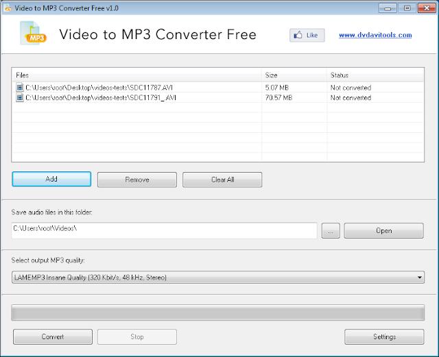 برنامج مجانى لتحويل أي ملف فيديو الى ملف صوتي بصيغة Video to MP3 Converter Free1-0 MP3
