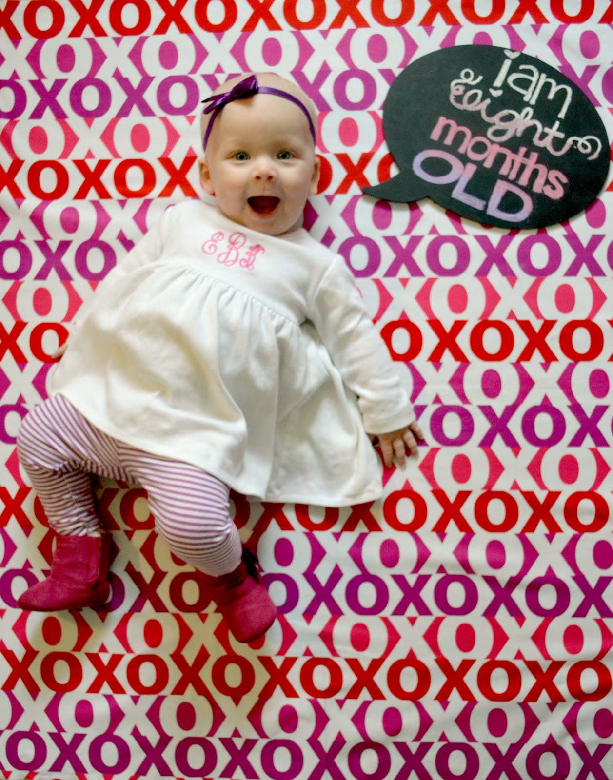 Yes baby girl its true you are 8 months old