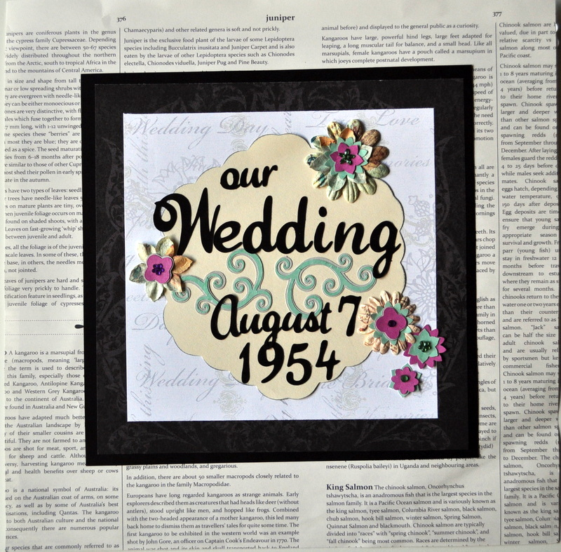 Vintage Wedding Double Scrapbook Layout