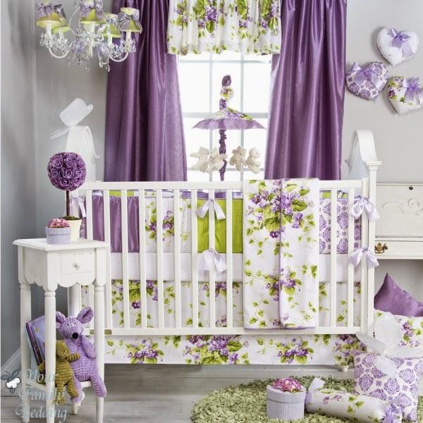 Dormitorios Con Acentos En Morado P�rpura Y Lila: Habitaciones De Bebé En Gris Y Morado