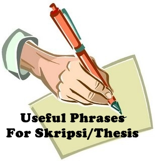 What is thesis writing useful phrases