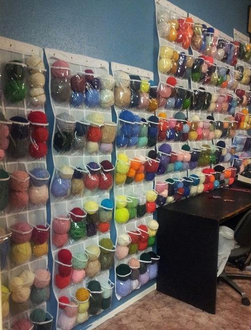 Living Room Yarn Storage