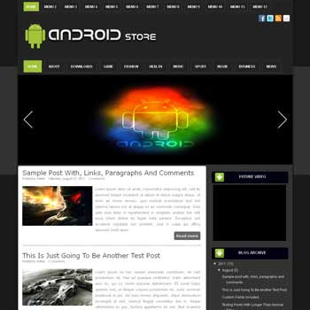 Android Store blogger template. download android news template for blogger