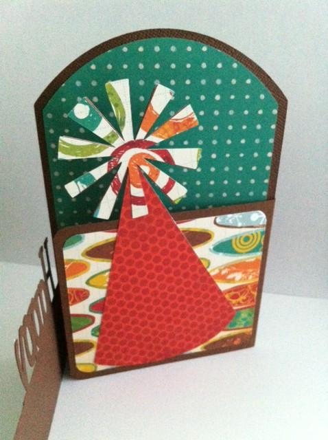 Carolyn S Crafty Creations Tri Fold Card Happy Birthday