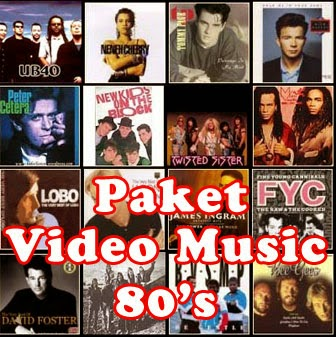 Paket DVD Video Musik 80an (5DVD)