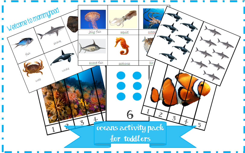 Free Montessori inspired ocean activities for toddlers