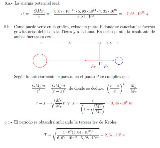 Examenes de selectividad campo gravitatorio problema resuelto 8