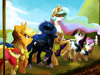 Celestia and Luna went to Sisterhooves to WIN