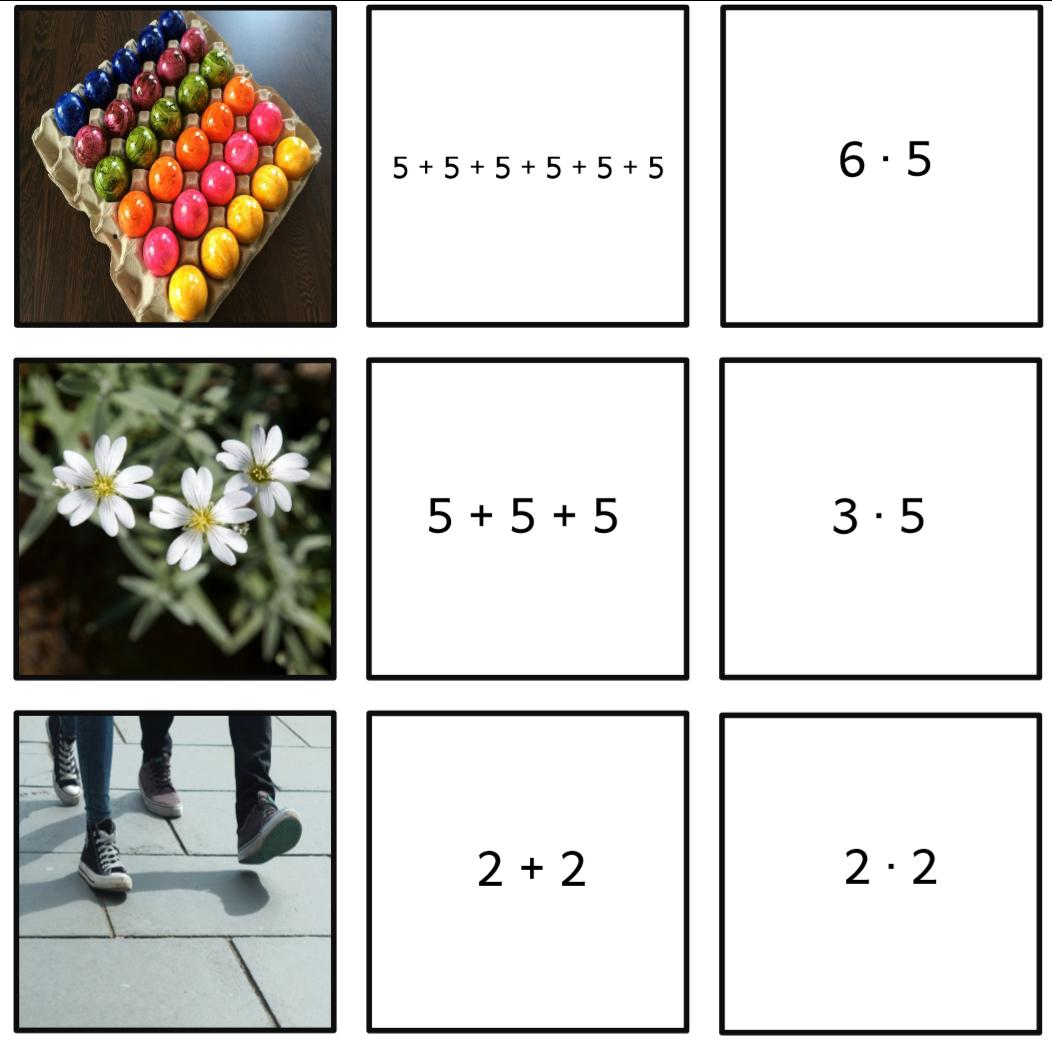 Mehilu00e4inen: Zuordnungsspiel Einmaleins