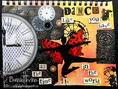 Bonnie's Embossing Art Journal Spread