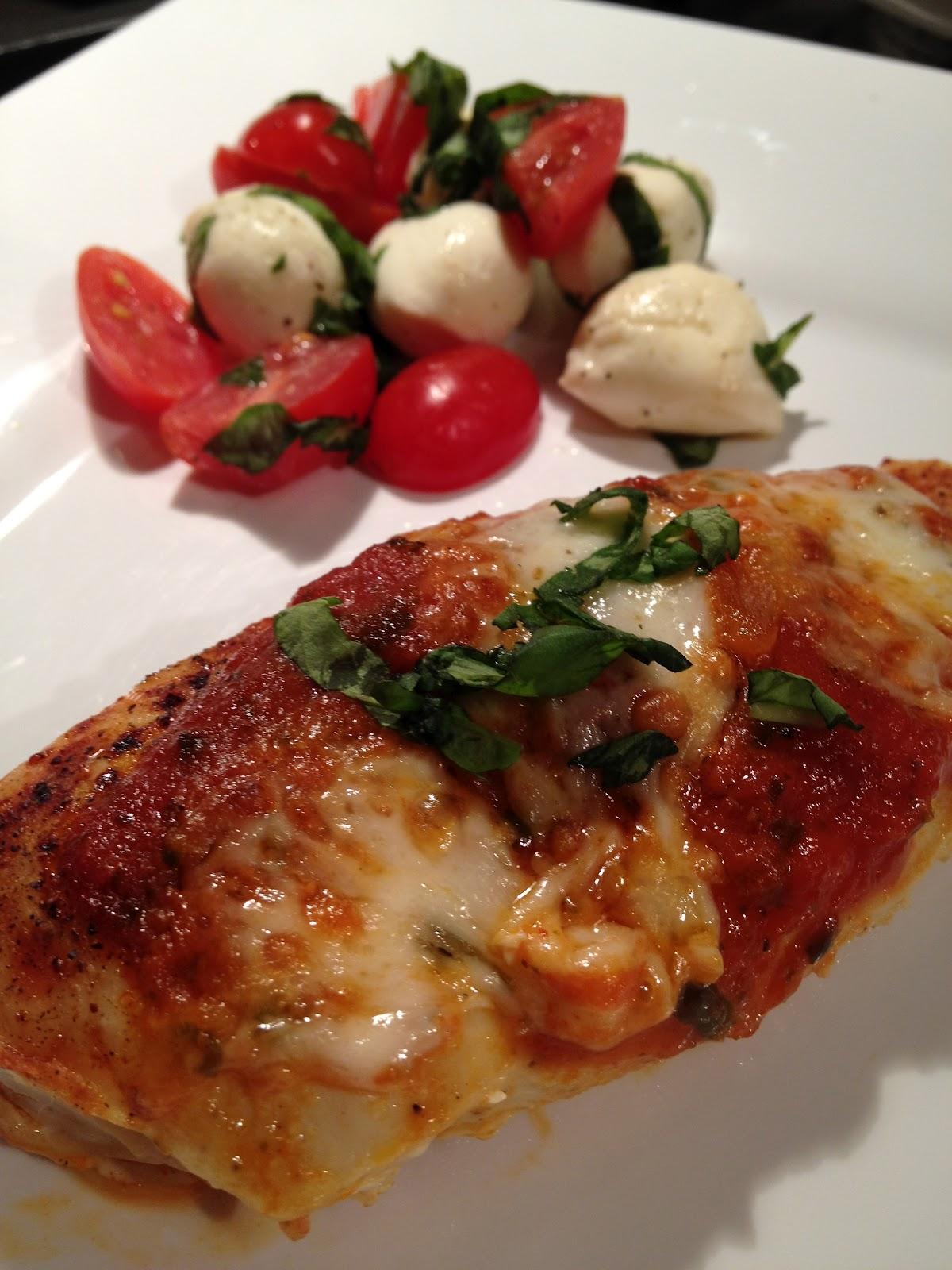 half tomato, half potato: Healthy Chicken Parmesan & Side Caprese ...