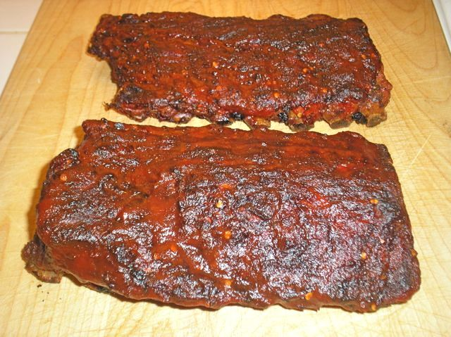 The Briny Lemon: Smoked Baby-Back Ribs