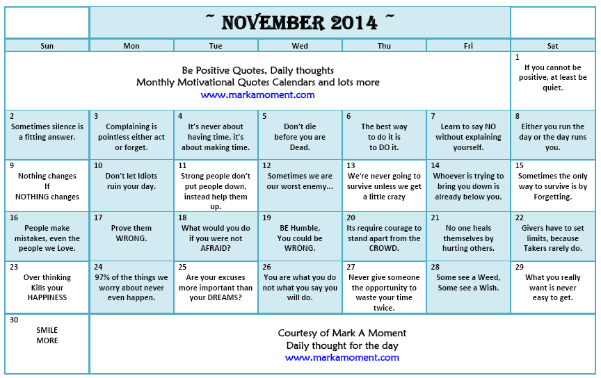 Calendar November Quotes Images - Reverse Search