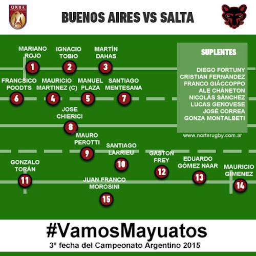 Los Mayuatos confirmados para enfrentar a Buenos Aires