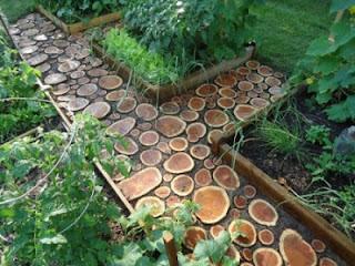 camino de tronco, camino de madera