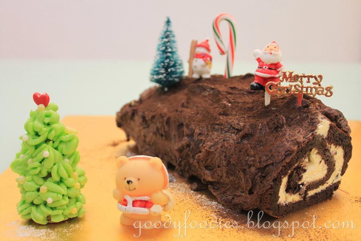 Yule Log Chocolate Cake Recipe