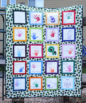 Handprint Quilt, front view