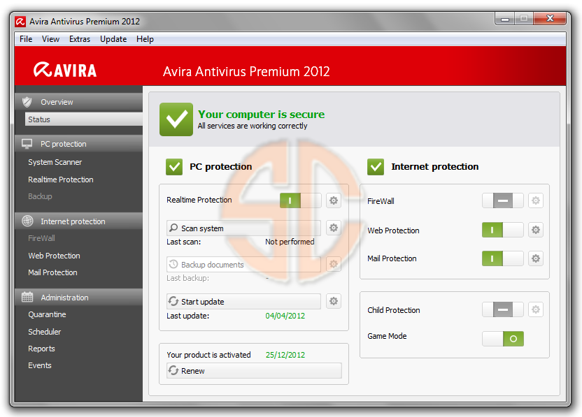 Click The Image To Download: Avira AntiVirus Premium 2013 Full Version