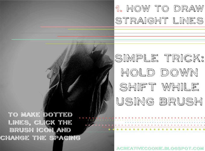 Drawing Straight Lines With Brush In Photo : A creative cookie simple photoshop tricks