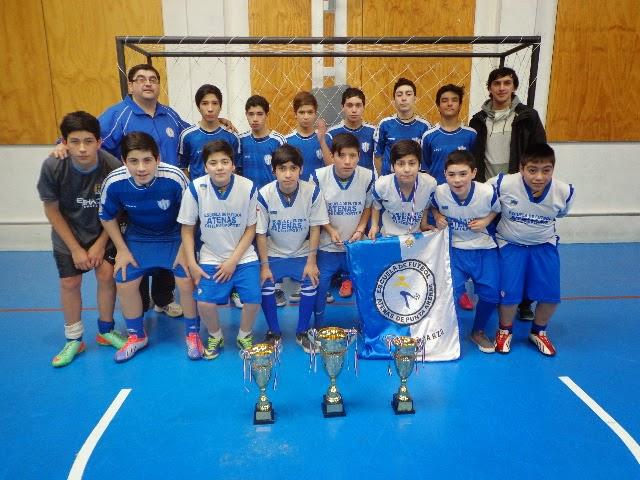 """Torneo de Futsal """"Aniversario CD Esmeralda"""" : EF Atenas vicecampeón y 2 terceros lugares."""