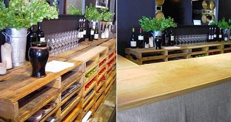 Bares amoblados con palets reciclados - Material para bares ...