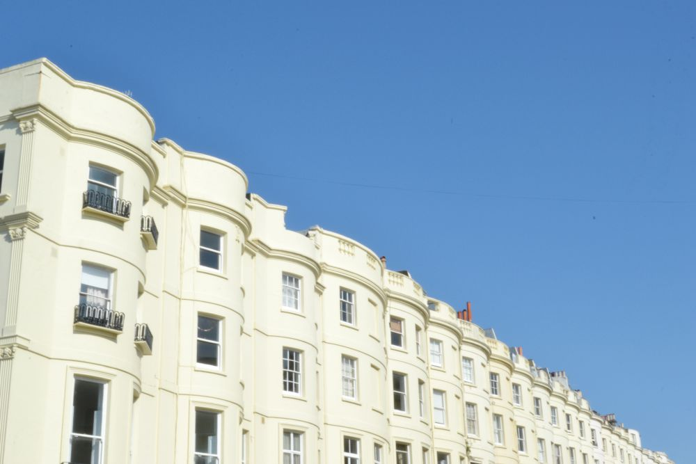 row white buildings flats brighton