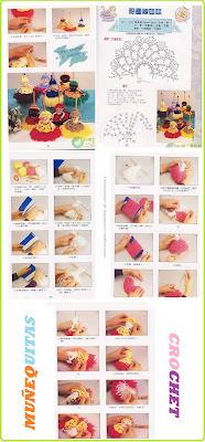 Muñequitas de Crochet Llaveros - Patrones Crochet