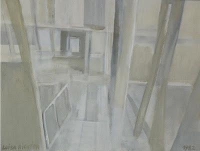 Mi casa: El marco Óleo sobre tela 45 x 59,5 cms 1982 (Colección Galería Ascaso)